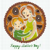 Happy mother`s day background. This is file of EPS8 format Stock Photos