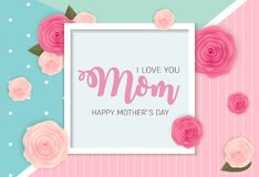 Happy Mother s Day Background with Flowers. Vector Illustration. EPS10 Royalty Free Stock Photos