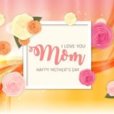 Happy Mother s Day Background with Flowers. Vector Illustration. EPS10 Stock Photos