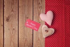 Happy Mother's day background with heart shapes Stock Photo