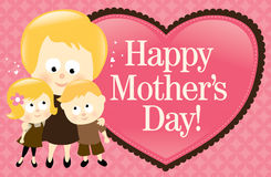 Happy Mother's Day Banner - Blonde Royalty Free Stock Photos