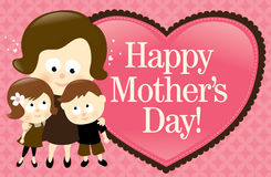 Happy Mother's Day Banner - Caucasian stock illustration