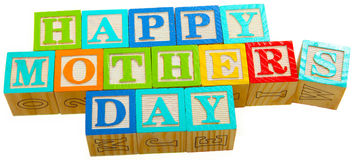 Happy Mother's Day Blocks Stock Images