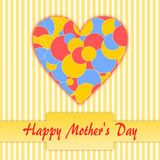 Happy Mother's Day with Bokeh heart Stock Photography