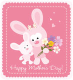 Happy Mothers Day bunnies Royalty Free Stock Photo