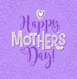 Happy Mother`s Day. calligraphy design for cards and banners. Happy Mother`s Day. Typography design for greeting cards, web banners. Retro styled calligraphy Royalty Free Stock Images