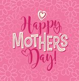 Happy Mother`s Day. calligraphy design for cards and banners. Happy Mother`s Day. Typography design for greeting cards, web banners. Retro styled calligraphy Stock Photo