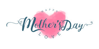 Happy Mother`s Day Calligraphy & lettering design. Happy Mother`s Day Calligraphy Royalty Free Stock Images