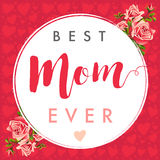 Happy Mother`s Day calligraphy ros banner Royalty Free Stock Photos