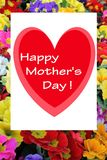 Happy mother's day card. The happy mother's day card vector illustration