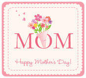 Happy Mother's Day card stock illustration