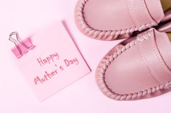 Happy mother`s day card. Royalty Free Stock Images