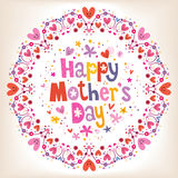 Happy Mother's Day card Stock Images