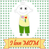 Happy Mother's Day Card Stock Image