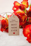 Happy Mother's Day!. Happy mother's day card saying best mom ever Stock Photography