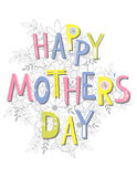 Happy Mother's Day card template, Vector. Royalty Free Stock Photography