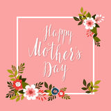 Happy Mother's Day card. Vector Royalty Free Stock Image