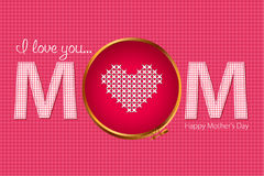Happy Mother's Day card Royalty Free Stock Image