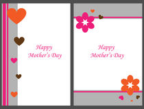 Happy mother's day cards stock photography