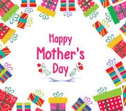Happy Mother's Day. Celebration background with gift boxes Royalty Free Stock Images