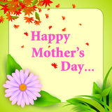 Happy Mother's Day celebration background Stock Image