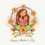 Happy Mothers Day celebration with cute mom and her daughter. Royalty Free Stock Images
