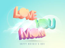 Happy Mothers Day celebration with 3d colorful text. Stock Images