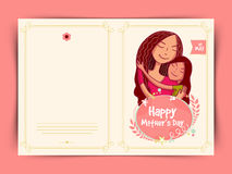 Happy Mother's Day celebration greeting card design. Stock Images