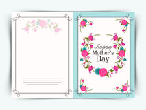 Happy Mothers Day celebration greeting card design. Royalty Free Stock Photos