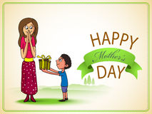 Happy Mothers Day celebration with mom and her kid. Royalty Free Stock Photo