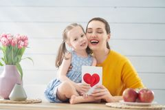 Happy mother`s day stock photography