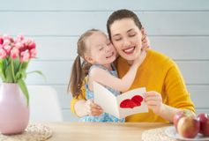 Happy mother`s day royalty free stock photography