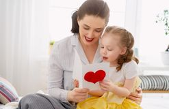 Happy mother`s day stock photo