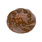 Happy mother's day chocolate cake. 3D illustration.  Royalty Free Stock Photos