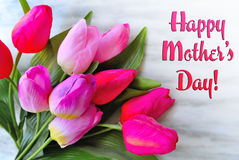 Happy mother's day. Happy mother day colored flowers Royalty Free Stock Photo