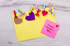 Happy Mother`s Day colorful card. Royalty Free Stock Photo