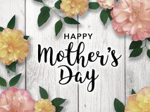 Happy Mother`s Day Colorful Graphic. Mother`s Day graphic with flower border Royalty Free Stock Photo