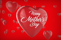 Happy Mother`s day concept. Best Mom. 3D illustrating. Stock Photo