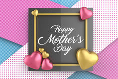 Happy Mother`s day concept. Best Mom. 3D illustrating. Stock Photos