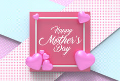 Happy Mother`s day concept. Best Mom. 3D illustrating. Stock Image