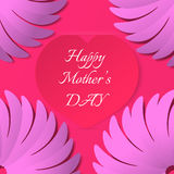 Happy Mother's day congratulation greeting card. Vector illustration Royalty Free Stock Photos