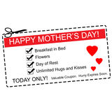 Happy Mother's Day Coupon Concept Royalty Free Stock Photo