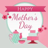 Happy Mother`s Day cute greeting card stock photography