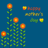 Happy mother's day design. Happy mothers day greeting card design vector Stock Photography