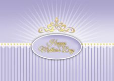 Happy mother's day, design in shades of purple Royalty Free Stock Images