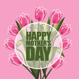 Happy Mother's Day design with tulips EPS 10 vector Stock Photos
