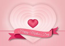 Happy mother's day, drawing concentric hearts Stock Photo