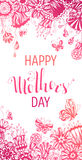 Happy Mother's Day Floral Background. Stock Photo