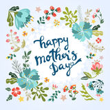 Happy Mother's Day floral greeting Royalty Free Stock Image