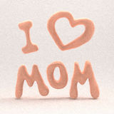 Happy mother's day flying painted letters. 3D illustration. Happy mother's day flying letters. 3D illustration Stock Image